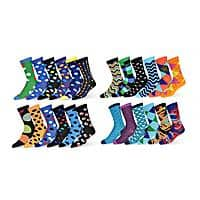 Robert Shweitzer Men's Colorful Patterned Dress Socks (12-Pack) Only 18.99 $18.99