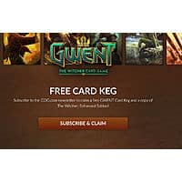 Free - The Witcher Enhanced for PC & Gwent Card Keg with newsletter subscription Image