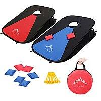 Collapsible Portable Corn Hole Boards with 8 Cornhole Bean Bags (3 x 2-feet) $24.83 online deal