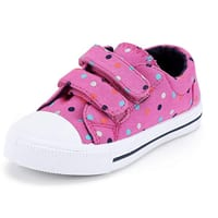 Toddler Sneakers for Boys and Girls Cartoon Dual Hook and Loops Sneakers Baby Canvas Shoes from $5.99 on Amazon