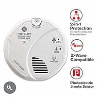 Prime Members: First Alert Z-WAVE Combination Smoke & CO Alarm, Works with the Ring Alarm Security Kit $34.79
