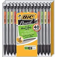 BIC Xtra-Smooth Mechanical Pencil, Medium Point (0.7 mm), 40-Count - $5.97 @ Amazon + FSSS