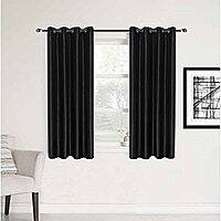 2 Panels Room Contemporary Decorative Blackout Thermal Insulated Grommet Window Curtain for Small Window, Grey, 52x45 Inch $  5.99