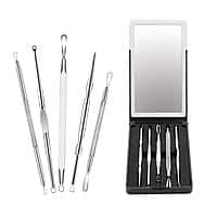 Blackhead Extractor, Fu Store 5 Piece Stainless Steel Blackhead Remover Whitehead Tools | $4.79