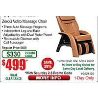 Human Touch ZeroG Volito Massage Chair $  499 at Fry's B&M w/Promo