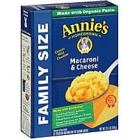 Annie's Family Size Macaroni and Cheese, Pasta & Classic Mild Cheddar Mac and Cheese, 10.5 oz Box (Pack of 6) - $  8.50 @ Amazon w/coupon and S&S