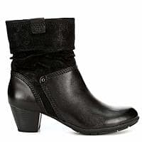 57% OFF Ladies Black Leather Slouch Boots End of the Year Amazon Deal + $2 Coupon $29.99