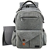 HapTim Multi-function Large Baby Diaper Bag Backpack W/Stroller Straps-Insulated Pockets - $  29.60 AC FS