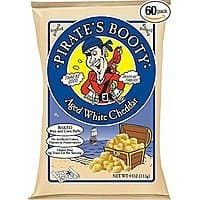 Pirate's Booty Aged White Cheddar, 0.5 Ounce (Pack of 60) - $14.97