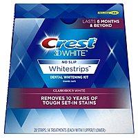 Prime Members: 14-Treatment Crest 3D White Luxe Whitestrip Teeth Whitening Kit (Glamorous White) $15.96 + Free Shipping