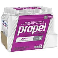 12-Pack of 16.9oz Propel Zero Calorie Sports Drinking Water (Berry or Black Cherry) $  3.43 w/ S&S + Free Shipping