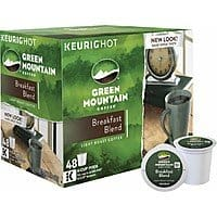 48-Pack Green Mountain Breakfast Blend K-Cups $14.99 + Free Store Pickup