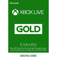 6-Month Xbox Live Gold Membership (Digital Delivery) $19 or less