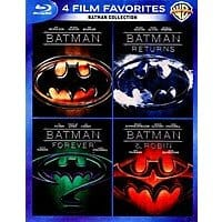 4 Film Favorites: Batman Collection (Blu-ray) $10 + Free Shipping w/ Prime or FSSS (Includes: Batman / Batman Returns / Batman Forever / Batman & Robin)