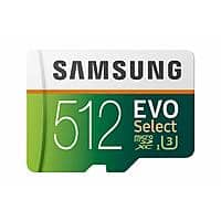 512GB Samsung EVO Select U3 microSD Memory Card w/ Adapter $99.99 + Free Shipping