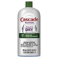30.5oz Cascade Platinum Rinse Aid (Original) $5.62 or 70-Count Cascade Platinum Plus Dishwasher Detergent Actionpacs (Lemon) $13.99 w/ S&S + Free Shipping