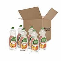 18-Pack 25-Oz Seventh Generation Dish Liquid Soap (Clementine Zest & Lemongrass) $25.07 or Less w/ S&S + Free Shipping