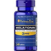 Puritans Pride Melatonin 3 mg Tablets, 240 Count Amazon s&s $2