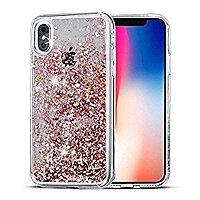 SUPVIN Liquid Case for iPhone X Creative Design with Rhinestone Diamond 5% OFF @$  7.59 + FS @Amazon
