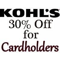 UPCOMING: Kohl's Cardholders: Coupon for Additional Savings 30% Off & More + Free S/H - Mar 01-06 and Mar 22-31