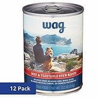 12-Pack (Amazon Brand) Wag Wet Dog Food 13.2 oz Can (Various Flavors) $13.99 5%