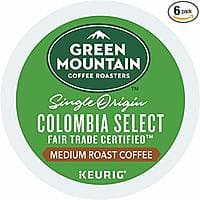 72-Count Green Mountain Coffee K-Cups (Colombia Select Fair Trade, Medium Roast) $20.86 w/ S&S & More + Free Shipping