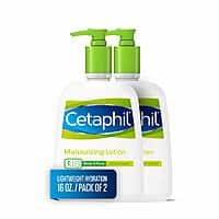 2 Bottles of Cetaphil Moisturizing Lotion for All Skin Types, Body and Face Lotion, 16 Fl Oz, $10.21 or less + Free Shipping
