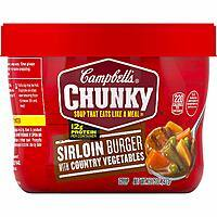 8-Pack 15.25oz Campbell's Chunky Soup (Sirloin Burger w/ Country Vegetables) $6 w/ S&S & More + Free S&H