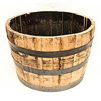 Real Wood Products 25.5-in W x 17.5-in H Rustic/Weathered Oak Wood Rustic Barrel - $8 at Lowe's - YMMV