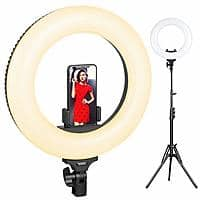 ESDDI 14 Inch Ring Light w/Phone Holder and Hot Shoe for $49.49 + Free Shipping
