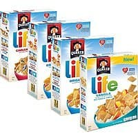 Quaker Life Breakfast Cereal Variety Pack, 52 Ounce @ Amazon $  7.59 FS w/S&S
