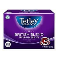 40-Count Tea Bags (Pack of 6) Tetley British Blend Naturally Decaffeinated Premium Black Tea $  10.87 @ Amazon FS w/S&S