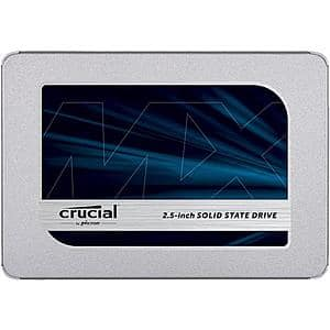 """2TB Crucial MX500 3D NAND SATA 2.5"""" Internal Solid State Drive $185 + Free Shipping"""