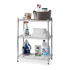 "30"" 3-Tier Hyper Tough Stackable Wire Shelving Rack (2 colors) $19.87 + Free store pickup at Walmart"