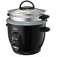 Oster CKSTRC61K-TECO Titanium Infused 6 Cup Rice & Grain Cooker with Steam Tray, Medium/One Size, Silver/Black $  16.00 Free Shipping for Prime Members