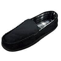 Men's Casual Moccasins Slippers Anti Slip Rubber Sole Slip on Cozy Loafers Indoor Outdoor Shoes $7.95