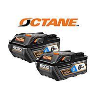 RIDGID 18-Volt OCTANE Bluetooth 6.0 Ah Battery (2-Pack) $119
