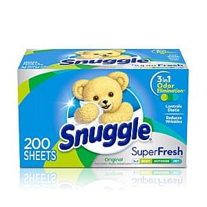 200-Ct Snuggle Plus SuperFresh Fabric Softener Dryer Sheets for $4.54 A/C & S&S $4.52