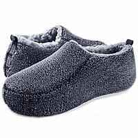 Men's Cozy Sherpa Slippers Comfy Slippers (Narrow Sizes) for $7 + Free Shipping