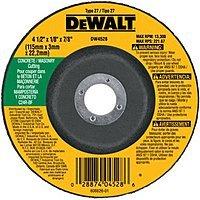 DEWALT DW4528 4-1/2-Inch by 1/8-Inch by 7/8-Inch Concrete/Masonry Cutting Wheel $2.37