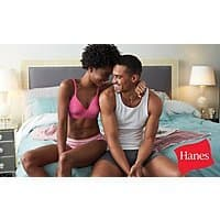 **still available** 50% Off Underwear, Socks, and Apparel at Hanes.com and Champion.com - $  40 voucher for $  20 or $  20 voucher for $  10 @ Groupon