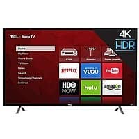 "TCL 49S405 - 49"" Roku Smart 4K 120Hz UHD HDR HDTV for $  299.99 w/coupon code + FS @ rakuten"