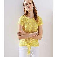 Loft: Extra 50% Off Sitewide: Floral Tie Hem Linen Tee $4.94, Wide Leg Crop Jeans $7.44 & More + FS on $125+