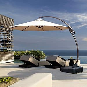 50% off Patio Cantilever Umbrella with Base plus free shipping $199.99 at Amazon