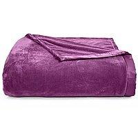 Macy's Classic Velvety Plush Eggplant King Blanket $9.99 FreeShipping