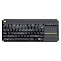 Logitech K400 Plus Wireless Keyboard w/ Built-In Touchpad $17.99