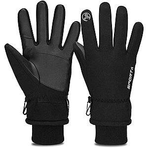 Cevapro -30℉ Winter Gloves Touchscreen Gloves Thermal Gloves for Running (Black, S-XL) $11.99 + FS