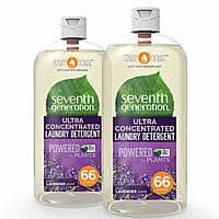 Seventh Generation Laundry Detergent, Ultra Concentrated EasyDose, Fresh Lavender, 23 Ounce, 2 Pack $6.54