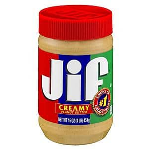 Walgreens Pickup Stacking Promo: Jif 16 oz Peanut Butter (Creamy, Crunchy, or Natural) - 2 for $2.50