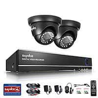 SANNCE Smart Home Security Sale Up to 35% Off: 4-CH 1080N TVI DVR 1500TVL 720P In/ Outdoor IR Home Security Camera System $53.90 & More